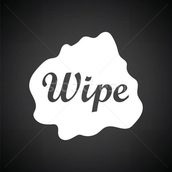 Silme bez ikon siyah beyaz çalışmak boya Stok fotoğraf © angelp