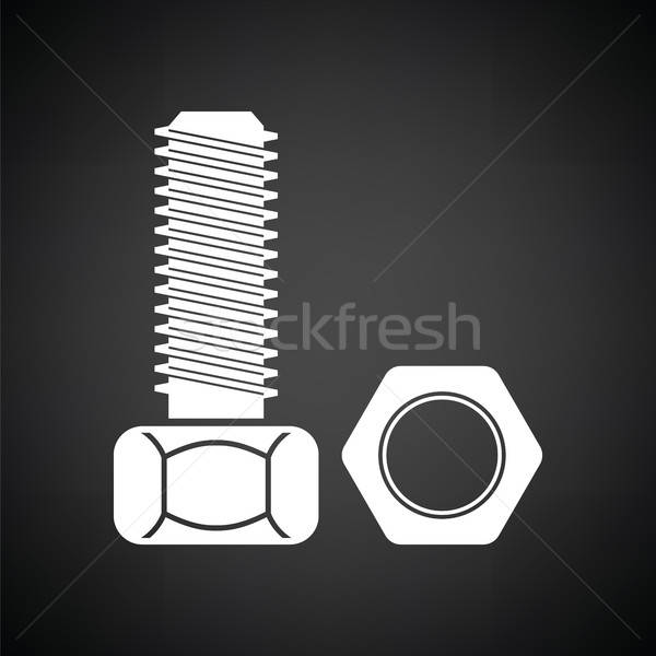 Icon of bolt and nut Stock photo © angelp