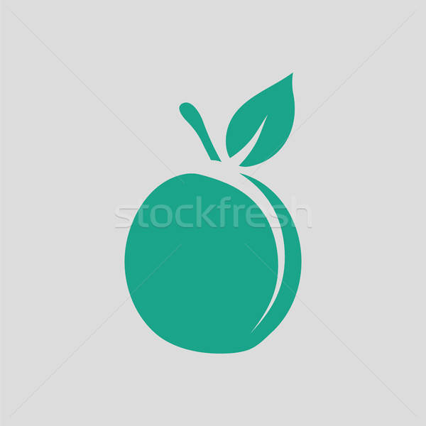 Pêssego ícone cinza verde assinar vegetal Foto stock © angelp