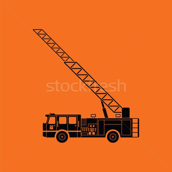 Stock photo: Fire service truck icon