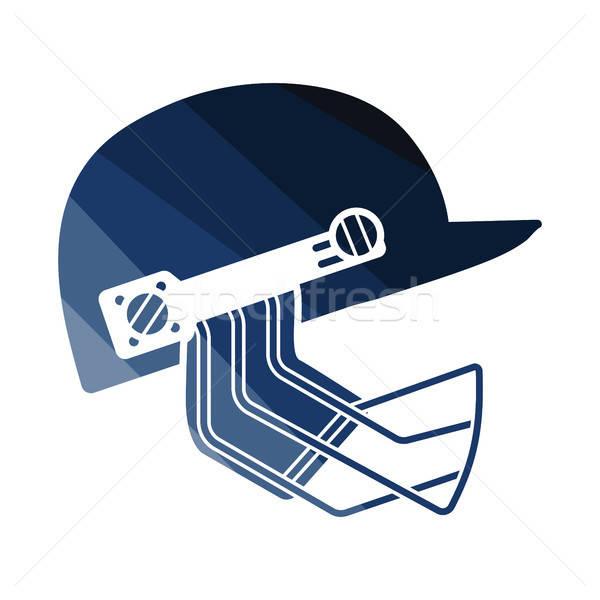 Cricket helmet icon Stock photo © angelp