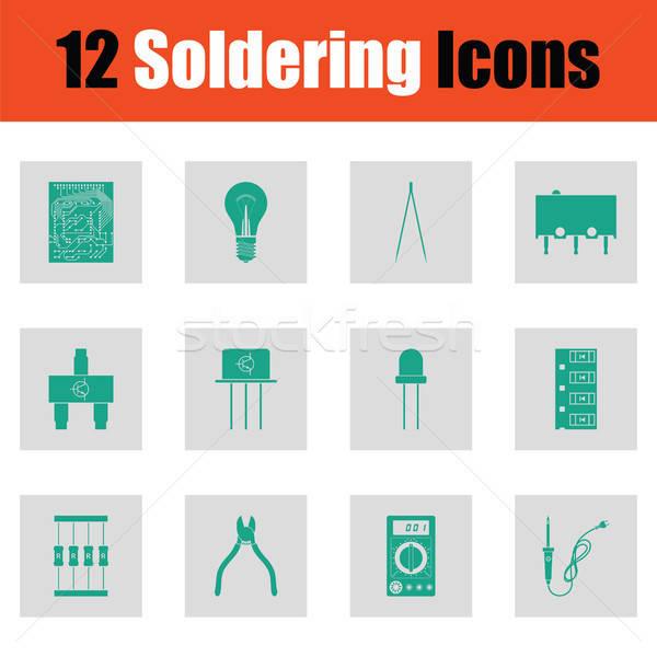 Set of soldering  icons Stock photo © angelp