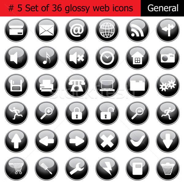 Generale nuovo raccolta diverso icone Foto d'archivio © angelp
