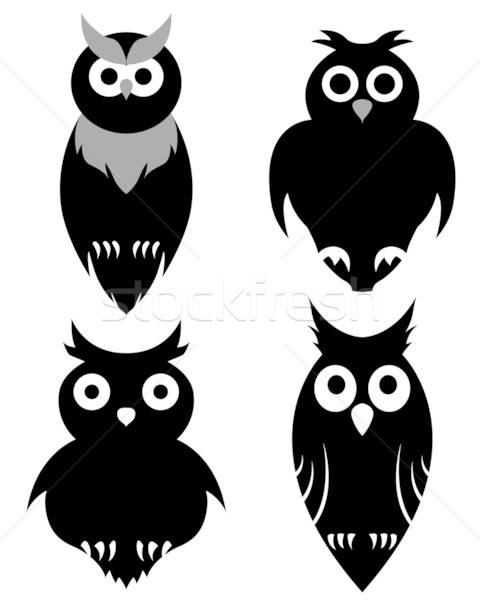 owl set Stock photo © angelp