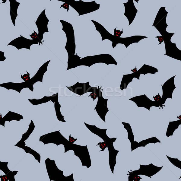 ハロウィン 幸せ 1泊 シームレス 抽象的な 背景 ストックフォト © angelp