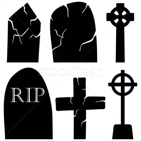 Graves piedras establecer halloween vacaciones elementos Foto stock © angelp