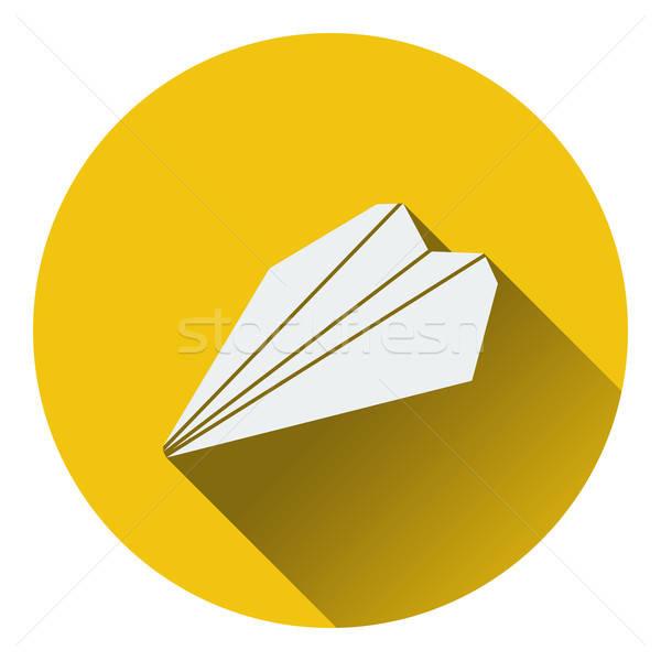 Сток-фото: бумаги · плоскости · икона · небе · стороны · знак