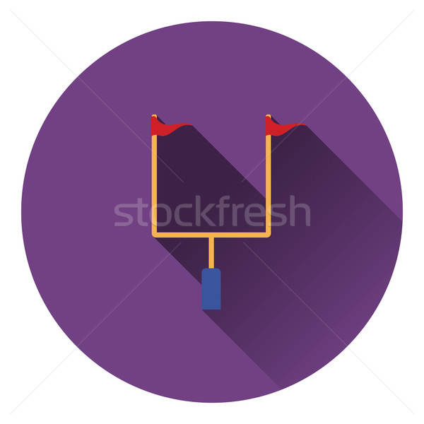 American football goal post icon Stock photo © angelp