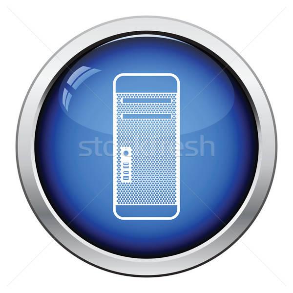 Stok fotoğraf: Birim · ikon · parlak · düğme · dizayn · teknoloji