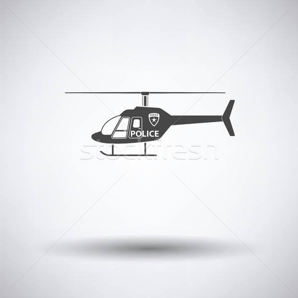 Police helicopter icon Stock photo © angelp