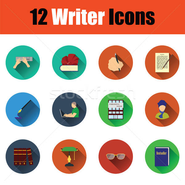 Set of writer icons Stock photo © angelp