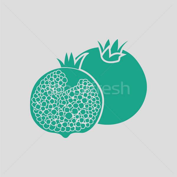 Stock photo: Pomegranate icon