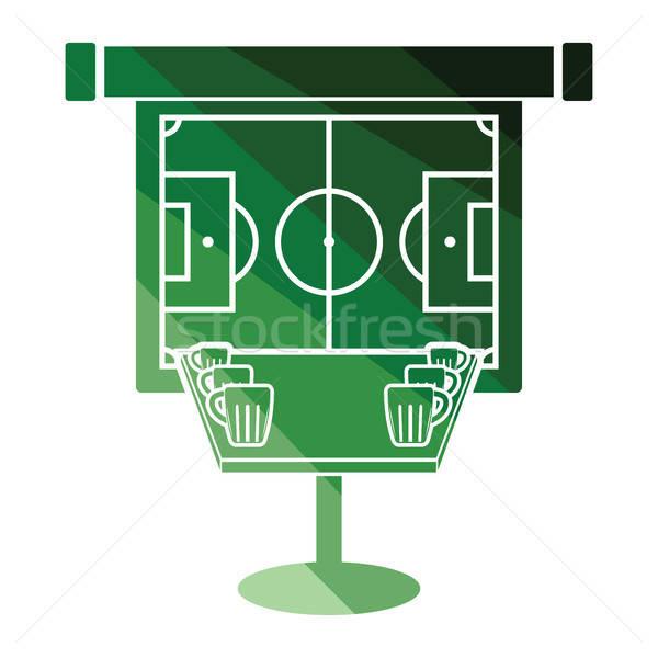 спорт Бар таблице пива футбола перевод Сток-фото © angelp