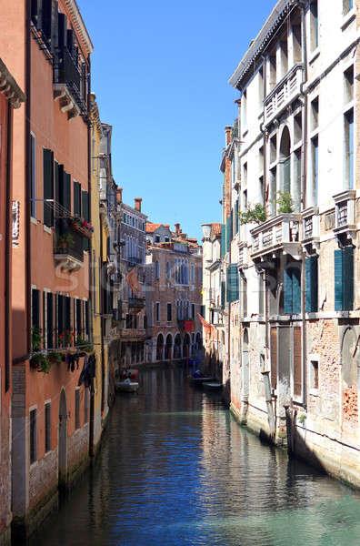Keskeny csatorna Velence egy Olaszország Európa Stock fotó © angelp