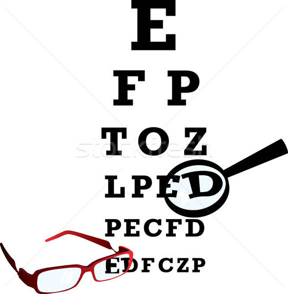 oculist alphabet Stock photo © angelp