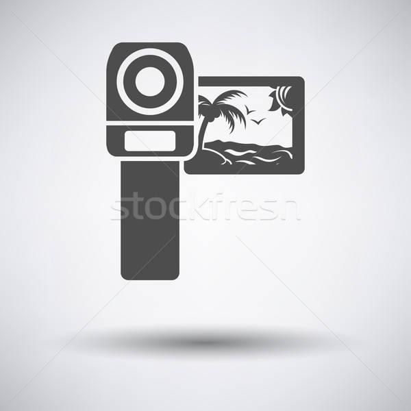 видеокамерой икона серый аннотация технологий знак Сток-фото © angelp