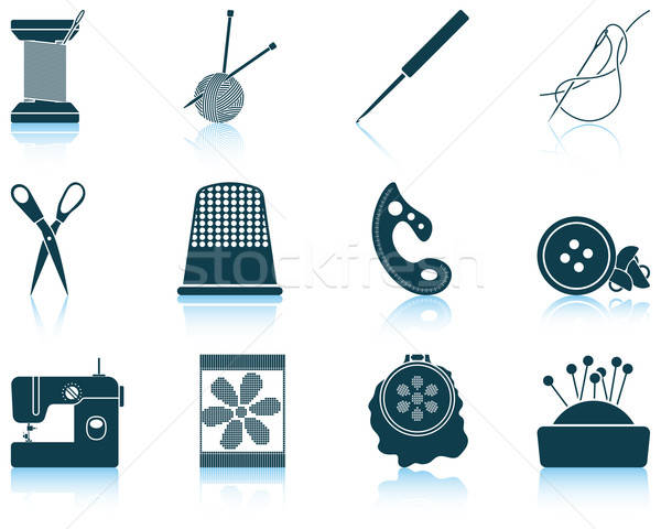 Set of sewing  icons Stock photo © angelp
