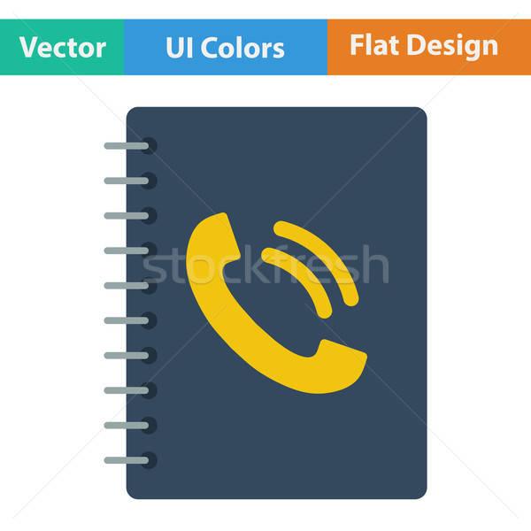 Phone book icon Stock photo © angelp