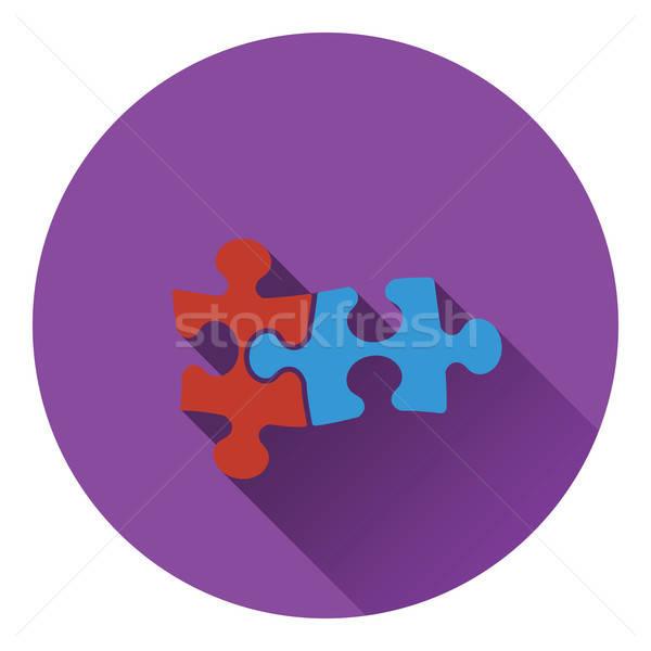 Ikona puzzle decyzja pracy projektu finansów Zdjęcia stock © angelp