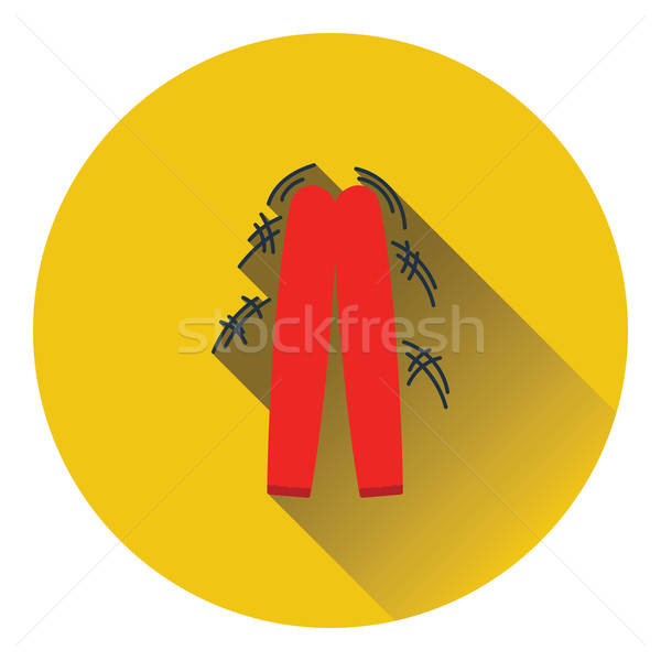 Football fans clapping sticks icon Stock photo © angelp