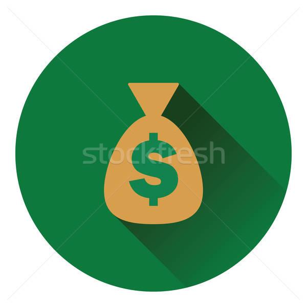 Pénz táska ikon szín terv piac Stock fotó © angelp