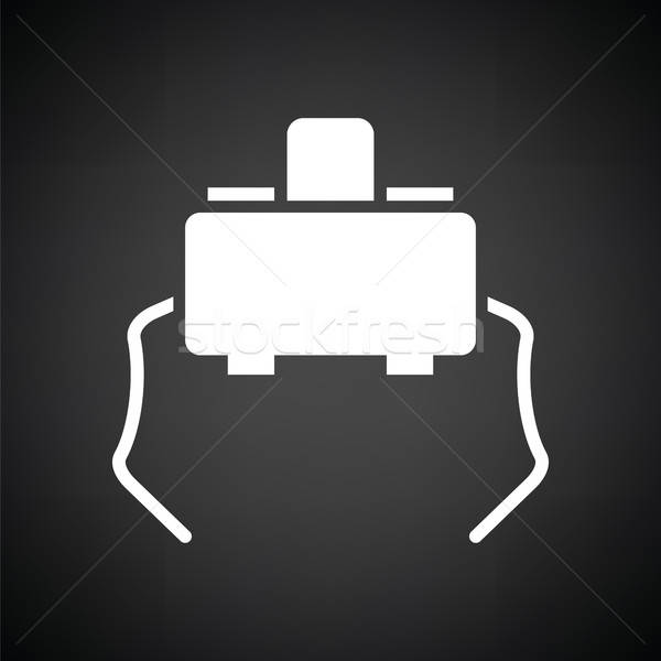 Micro button icon Stock photo © angelp