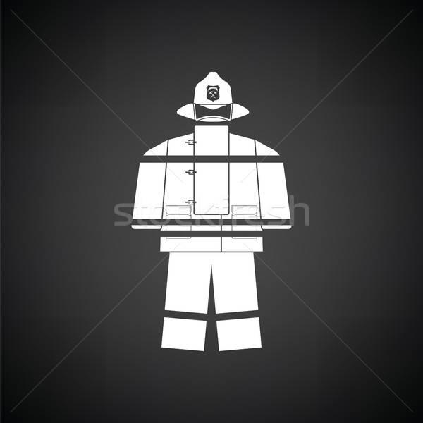 Сток-фото: огня · службе · равномерный · икона · черно · белые · помочь
