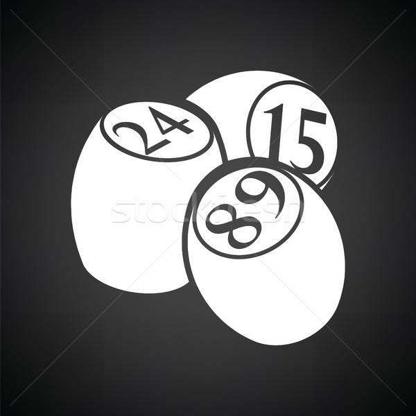 бинго икона черно белые деньги искусства знак Сток-фото © angelp