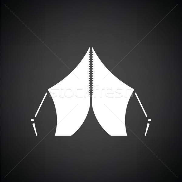 Touristic tent icon Stock photo © angelp
