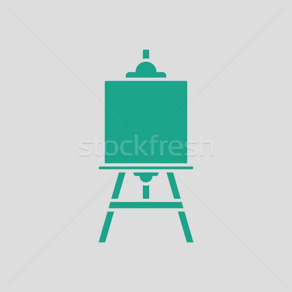 Schildersezel icon grijs groene hout verf Stockfoto © angelp
