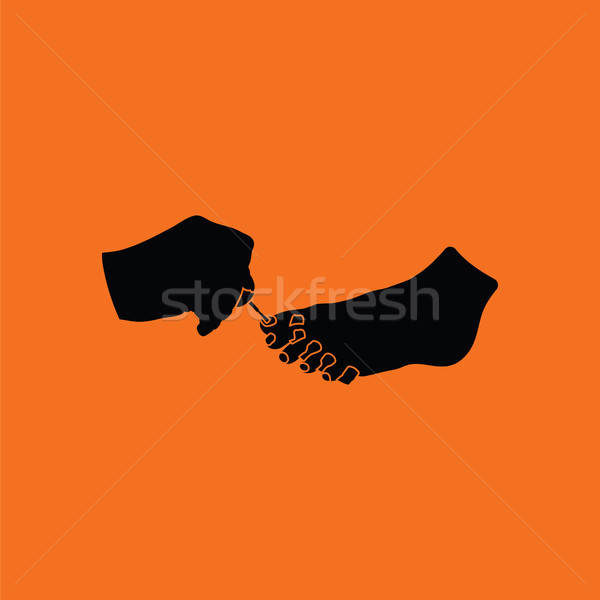 Pedicure icon Stock photo © angelp