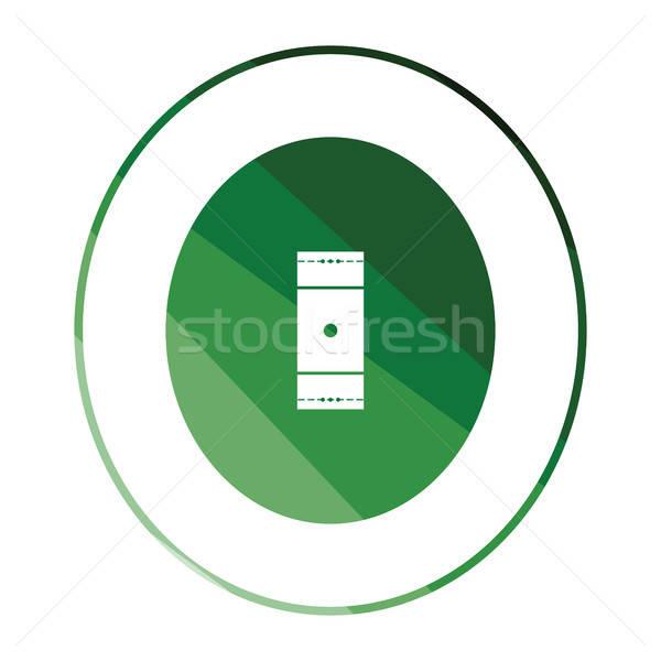 крикет области икона цвета дизайна фон Сток-фото © angelp