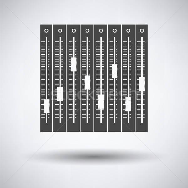 музыку эквалайзер икона серый технологий цвета Сток-фото © angelp
