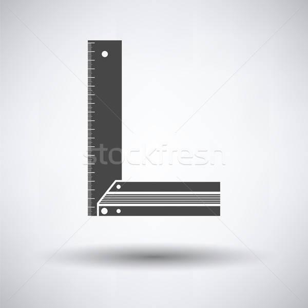 Ikona szary metal sylwetka kolor stali Zdjęcia stock © angelp