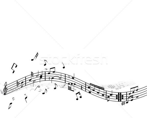 Zene háttér jegyzetek fehér terv diszkó Stock fotó © angelp