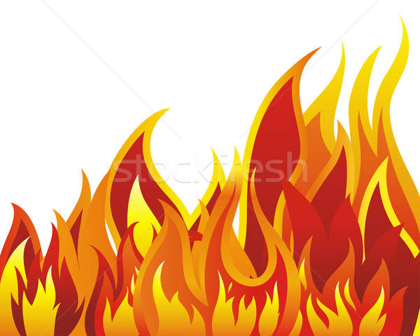 fire background Stock photo © angelp