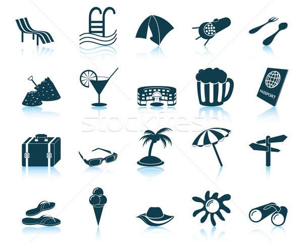 travel icons set Stock photo © angelp