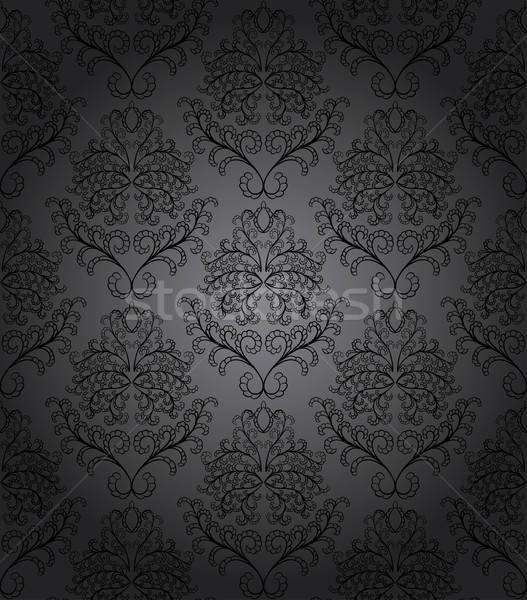 Damaszt végtelenített vektor minta könnyű készít Stock fotó © angelp