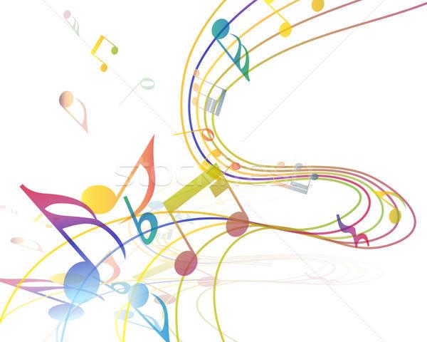 Musical terv elemek zene személyzet jegyzetek Stock fotó © angelp