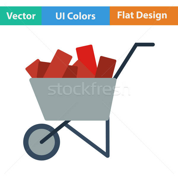 Flat design icon of construction cart  Stock photo © angelp
