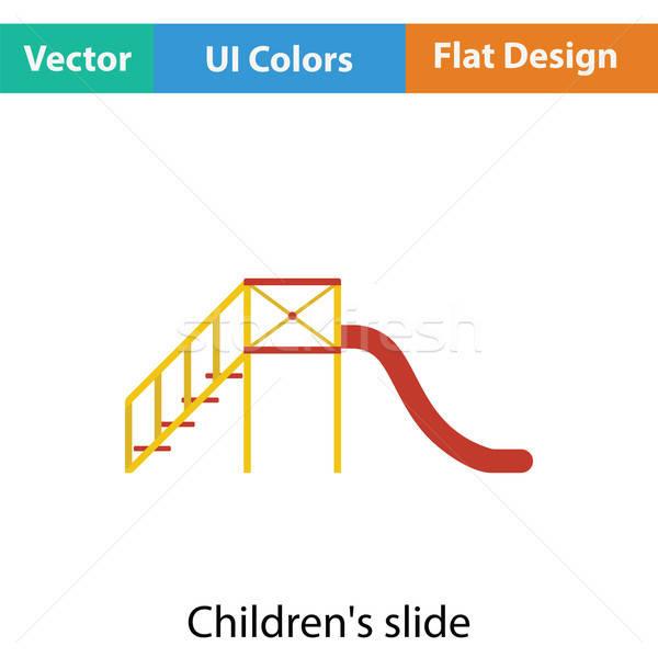 Slide icône couleur design école enfant Photo stock © angelp