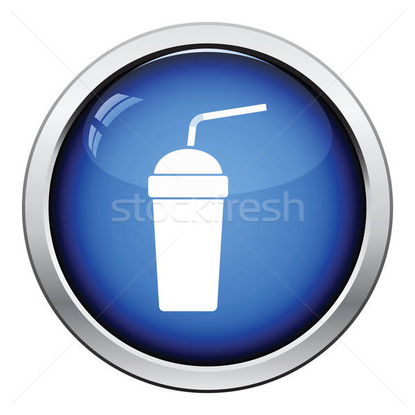 Disposable soda cup and flexible stick icon Stock photo © angelp