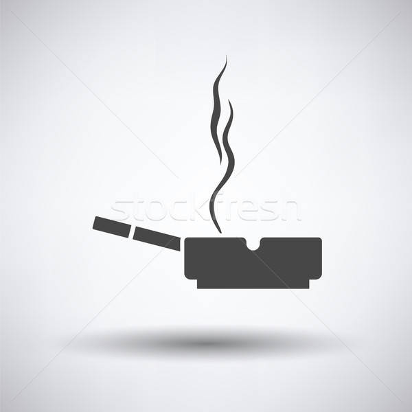 Cigarette in an ashtray icon Stock photo © angelp