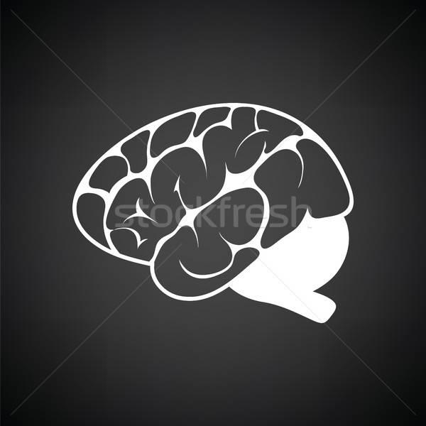 脳 アイコン 黒白 医療 技術 背景 ストックフォト © angelp