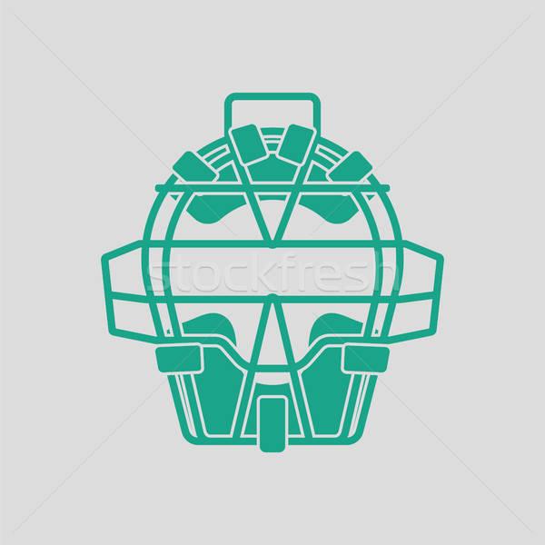 野球 顔 アイコン グレー 緑 スポーツ ストックフォト © angelp