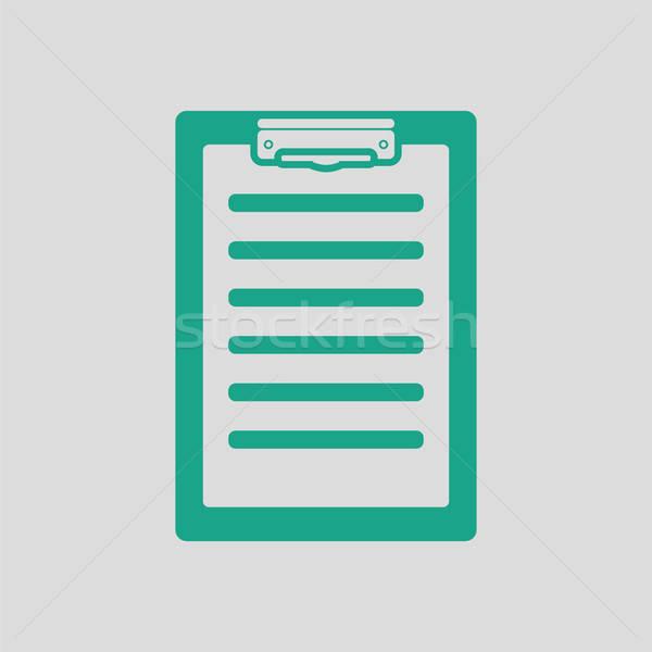 Maladie histoire icône gris vert médecin Photo stock © angelp