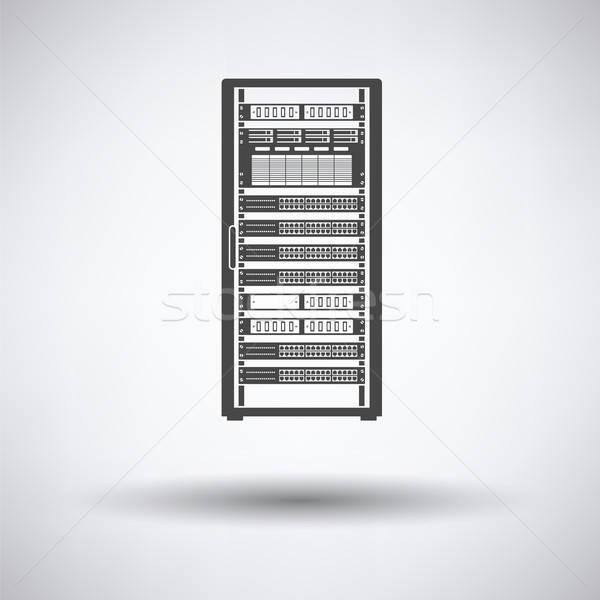 Szerver rack ikon szürke üzlet számítógép szerver Stock fotó © angelp