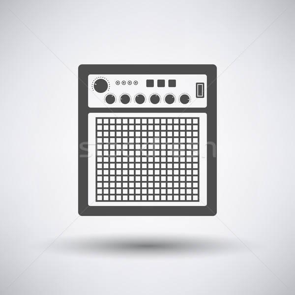 オーディオ モニター アイコン グレー デザイン 技術 ストックフォト © angelp