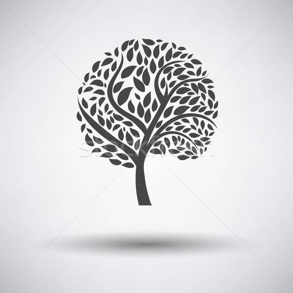 экологический дерево листьев икона серый лист Сток-фото © angelp