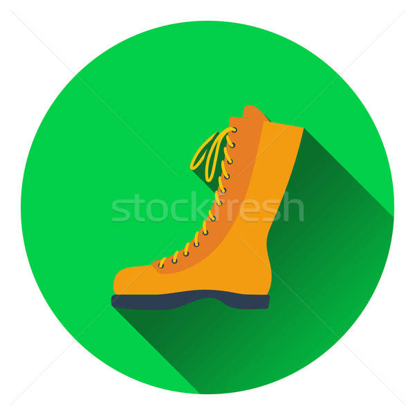 Icon of hiking boot Stock photo © angelp